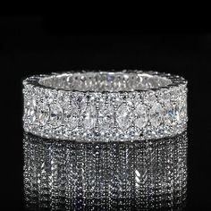 Marquise and Round Diamond Eternity Band #wedding #engagement #ring #DiamondEternityRings