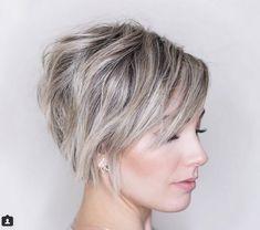 Messy Layered Short Chopped Grey Haircuts 2018-2019