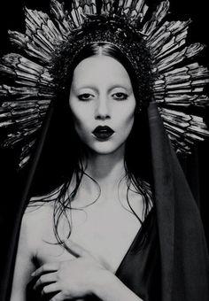 Mystical queen in black