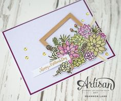 Crush On Colour: Irresistible Succulents - Stampin' Up! Artisan Design Team Blog Hop