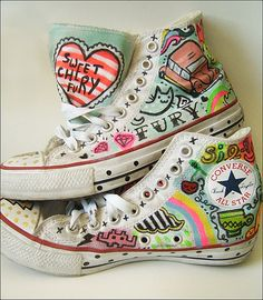 http://www.ehow.com/how_2222467_decorate-converse-sneakers.html -- decoration ideas for converse