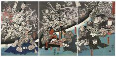 Utagawa Kuniyoshi - The Earth Spider Generates Monsters at the Mansion of Lord Minamoto Yorimitsu