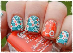 A Girl and Her Polish: Sunday Stamping - Inspired By the 70s Pueen25