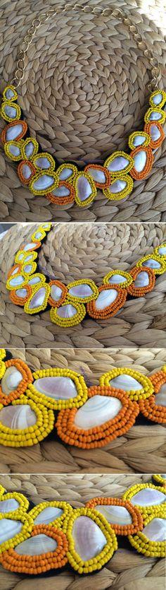 www.merving.com #necklace #kolye #taslikolye #bignecklace #shop #sale #mervingdesign #mervingcom #mervingshop #like #handmade #diynecklace #blog #blogger #elyapimi #handmade #fashion #fashionnecklace #fashion #yellownecklace