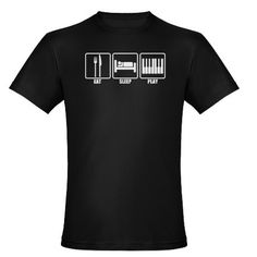 EAT SLEEP PLAY PIANO Men's Fitted T-Shirt (dark)
