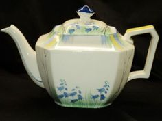Royal Grafton Ware ART Deco Painted TEA POT Teapot | eBay