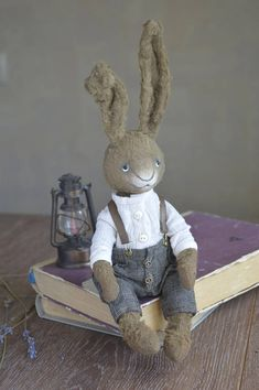 Check out this item in my Etsy shop https://www.etsy.com/listing/548516042/artist-bunny-brown-ooak-teddy-small