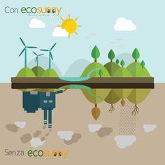 Con #ecosunny e senza ecosunny   #riscaldamento #irraggiamento #infrarossi