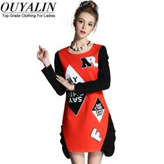 L- 5XL Casual Autumn Dress Letter Pattern Detail Long Sleeve Short Mini What a beautiful image http://www.artifashion.net/product/l-5xl-casual-autumn-dress-letter-pattern-detail-long-sleeve-short-mini/ #shop #beauty #Woman's fashion #Products