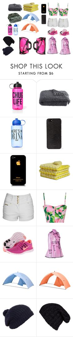 """""""Kaytlan's and Samara's runaway stuff"""" by samantharose0607 ❤ liked on Polyvore featuring Victoria's Secret PINK, Crate and Barrel, DKNY, HAY, Jane Norman, NIKE, RED Valentino and Grevi"""