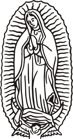 find this pin and more on 5th grade religion our lady of guadalupe coloring page