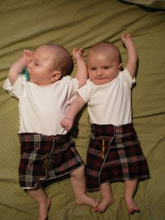 Ohhhh looks so sweet.... Order your custom made tartan kilts... http://scottishkiltshop.com/en/14-tartan-kilts