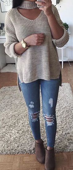 Sweater style   jeans