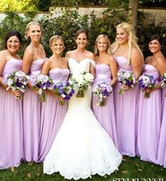 Lavender Color Bridesmaid Dresses
