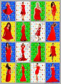 Limited edition 'Sixteen Red Dresses' poster by FalconFabrics.com.au