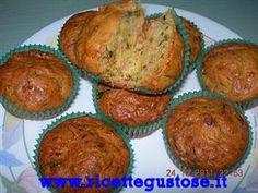 Muffin salati zucchine e speck