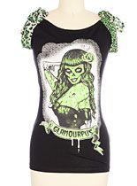 Glamourpus Zombie Girl Tee at PLASTICLAND