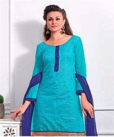 Cotton Chanderi and Jacquard Suit