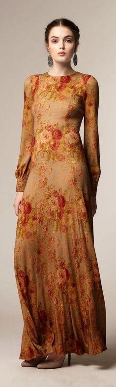Autumn Rose, Warm Autumn, Fall, Fashion Themes, Fashion Dresses, Vintage Couture, Vintage Fashion, Shades Of Beige, Fashion Lighting
