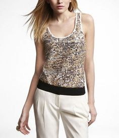 Just got this top and sweater at Express... LOVE IT.