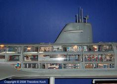 Submarine Seaview interior model: Voyage to the Bottom of the Sea.