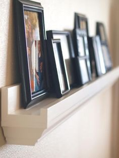 diy picture frame ideas | DIY/Design Ideas / ledge frame holder