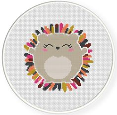 FREE Porcupine Cross Stitch Pattern