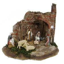 Immagine correlata Christmas Nativity Scene, Christmas Tree Ornaments, Merry Christmas, Nativity Scenes, Portal, Decoupage, Holiday Decor, Painting, Models