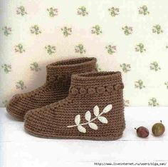 """Crochet: """"zapatos calientes"""" - maomao - acción del corazón I"""