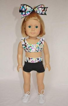 Sport girl outfit doll clothes 38 Trendy ideas #sport American Girl Diy, American Girl Clothes, Girl Doll Clothes, Girl Dolls, Diy Clothes, Ag Dolls, Doll Toys, Sport Outfits, Girl Outfits