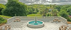 The wonderful views from the terrace at Abbeyglen Castle