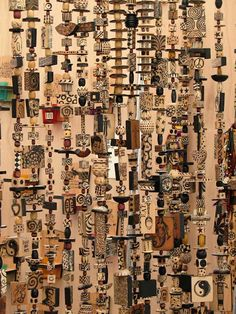 Bead Curtain - Fantastic use of beads, game pieces and objets d'art