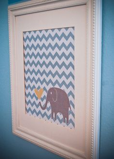 Instant Download - Digital 8x10 nursery print: blue chevron and grey elephant with heart by JHDesignsStudio on Etsy https://www.etsy.com/listing/104267492/instant-download-digital-8x10-nursery