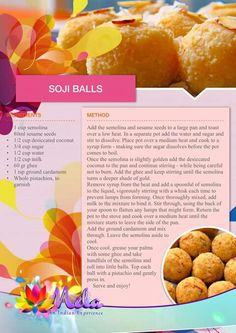 Soji Balls Kid Veggie Recipes, Halal Recipes, Other Recipes, Indian Food Recipes, Real Food Recipes, Group Recipes, Dessert Recipes, Cooking Recipes, Cake Recipes