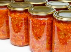 Kimchi, Pickles, Cooking Tips, Mason Jars, Veggies, Vegetables Garden, Food And Drink, Stuffed Peppers, Canning