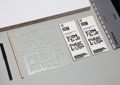 Print In Revolt by Shannon Lim, via Behance