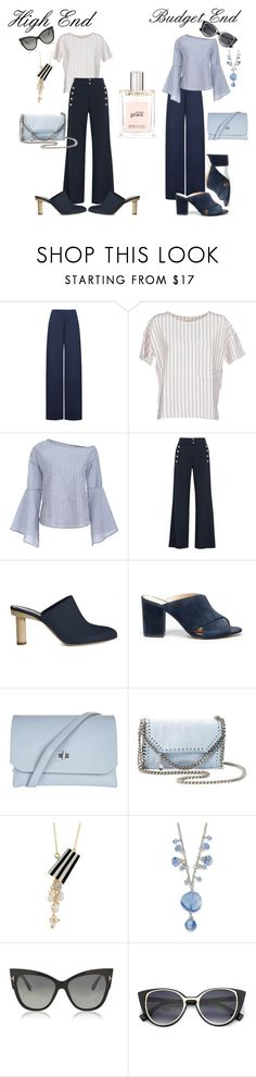 """""""Classic blue & white"""" by tammydevoll ❤ liked on Polyvore featuring WearAll, BELLEROSE, Chloé, TIBI, Sole Society, Topshop, STELLA McCARTNEY, 1928, Tom Ford and philosophy"""