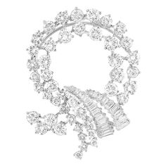 White Gold and Diamond Brooch
