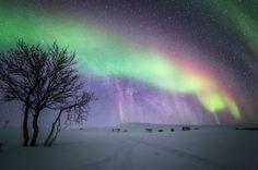 Tiina Törmänen's Photos of Finland's Northern Lights in the Snow