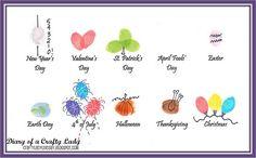 cute fingerprint art for every holiday