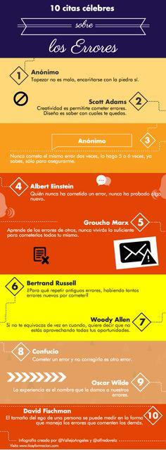#Infografia #Curiosidades 10 citas célebres sobre los errores #TAVnews