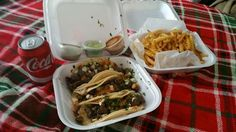 Enjoy #tacos in the comfort of your own bed #netflix #chill #fries #cocacola call us  for a pickup/delivery order