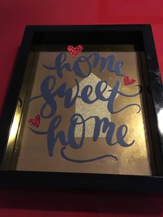Sizzix and Silhouette Home Sweet Home frame