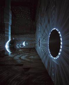 "Mischa Kuball - ""Space-Speech-Speed""                                                                                                                                                                                 Mehr Interactive Exhibition, Interactive Installation, Installation Art, Exhibition Ideas, Terre Plate, Neo Futurism, Galaxy Theme, New Media Art, Lighted Canvas"
