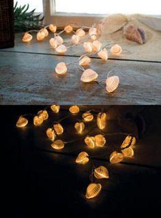 Schelpen lampjes.. Nu slecht weer, maak deze lampjes alvast en bij de eerste zwoele zomeravond zitten jullie er knus bij!