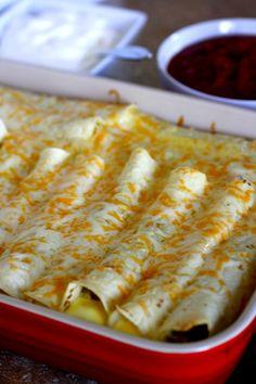Breakfast Enchiladas Recipe ~ BEST breakfast casserole ever!