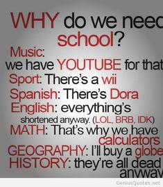 Why do I need school funny