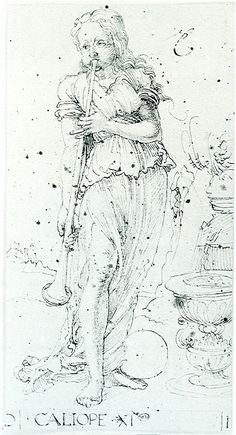 Muse Calliope, 1494, Albrecht Dürer