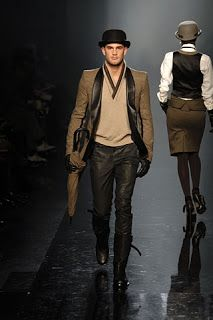 Jean Paul Gauthier Men's Fashion Show. 1920s alpine meets English dandy look. From hollisterhovey