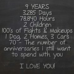 Great Idea For An Anniversary Gift It Would Be Super Cute Written On A Chalkboard And Framed Present